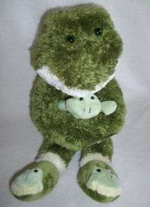Cuddle Zone Target Large Green Frog with Baby Plush Toy