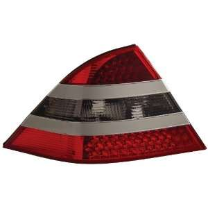 Anzo USA 321119 Mercedes Benz Red/Smoke Silver Center LED Tail Light