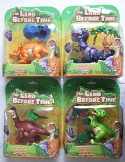 THE LAND BEFORE TIME Action Figure LITTLEFOOT CERA CHOMPER DUCKY Free