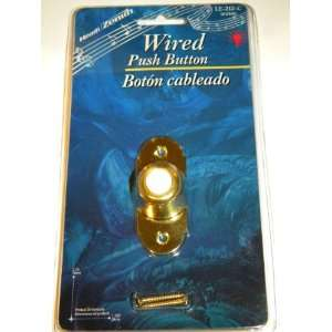 Heath Zenith Solid Polished Brass Wired Push Button with Lighted