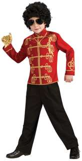 Boys Red Michael Jackson Military Jacket   Michael Jackson Costumes