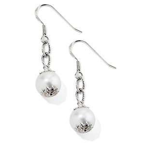 Cultured Freshwater Pearl Sterling Silver Drop Earrings