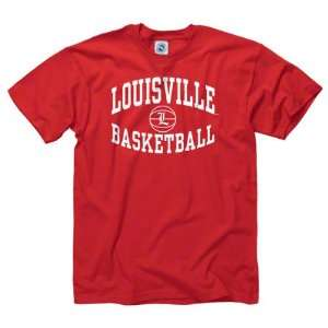 Louisville Cardinals Red Reversal Basketball T Shirt