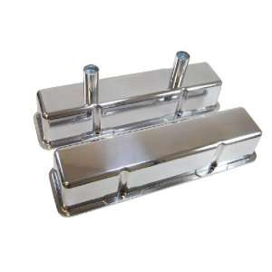 400 Tall Polished Aluminum Circle Track Racing Valve Covers   Smooth