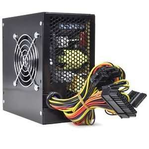 20+4 pin Dual Fan ATX Power Supply w/SATA & PCI E(Black) Electronics