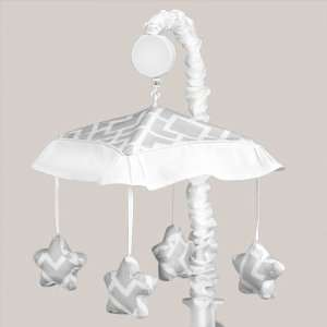 Gray and White Diamond Musical Baby Crib Mobile by JoJO Designs Baby