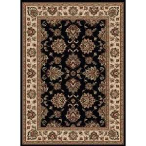 Italia VE16 3 3 x 4 11 black Area Rug