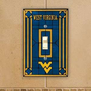Virginia Mountaineers Blue Art Glass Switch Cover