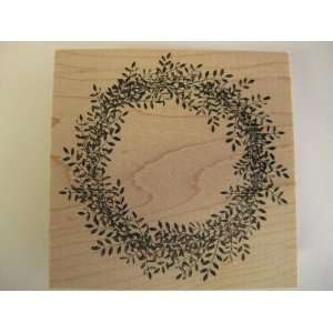Fresh Spring Wreath Wood Mounted Stamp// Memory Box Arts