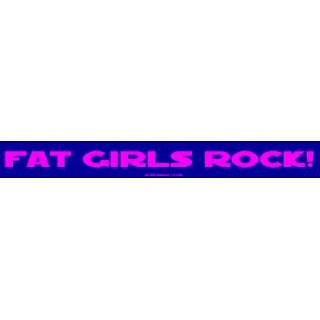 FAT GIRLS ROCK Large Bumper Sticker Automotive