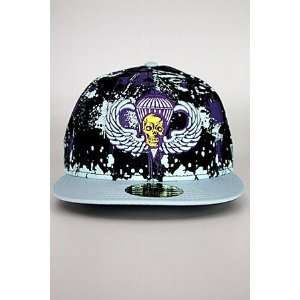 Para Camo Hat Sky Blue  Black  Purple 7 1/4  Sports