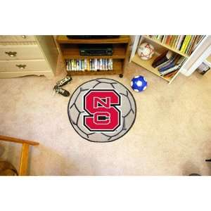 North Carolina State Wolfpack NCAA Soccer Ball Round Floor