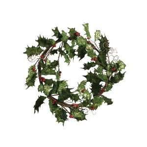 Pack of 2 Holly Berry Artificial Christmas Wreaths 22