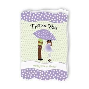 American   Personalized Baby Thank You Cards With Squiggle Shape