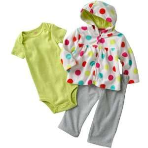 Carters Baby Girls 3 piece Cuddly Cute Cotton/Polyester Micro Fleece