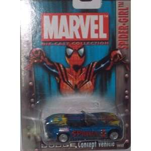 Spider Girl Dodge Concept Vehicle 164 Scale Diecast Car Toys & Games