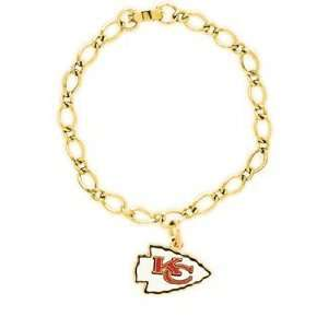NFL Kansas City Chiefs Bracelet   Single Charm Sports