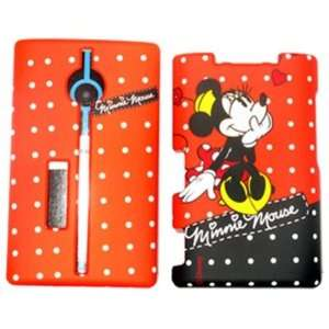 Minnie Mouse   Red   Disney Officially Licensed Hard Case/Cover