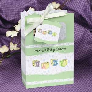 Blocks   Classic Personalized Baby Shower Favor Boxes Toys & Games