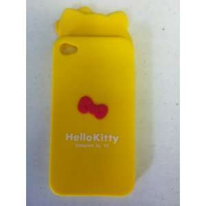 Hello Kitty Silicon Rubber Case Cover for iphone 4 4S yellow Cell