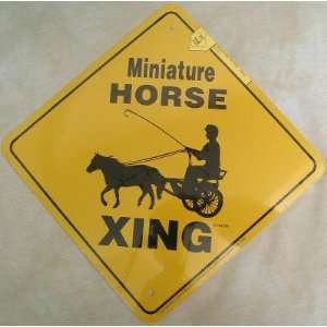 Miniature Horse & Cart Xing Sign