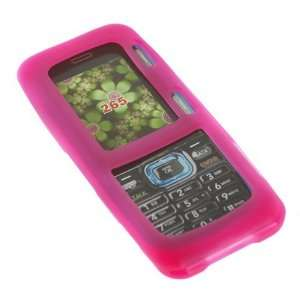 Silicon Skin Hot Pink Rubber Soft Cover Case for LG Rumor