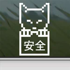 JDM Lucky Cat White Sticker Car Laptop Vinyl Window White