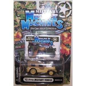 Muscle Machine 1/64 Scale Diecast 1942 Jeep Military Vehicle in Color