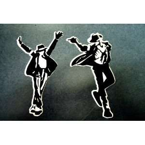 Michael Jackson 2 sticker Decal set  BLACK Automotive