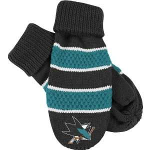 Jose Sharks Womens Knit Mittens One Size Fits All