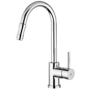 Single Handle Kitchen Faucet with Metal Lever Handle and 8.7 Spout