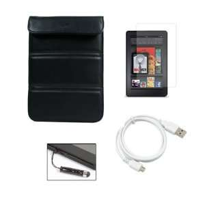Screen Protector and Micro USB Cable and Kindle Fire Small Stylus