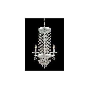 Dale Tiffany GH80535 Kings 3 Light Mini Chandelier in Polished Chrome