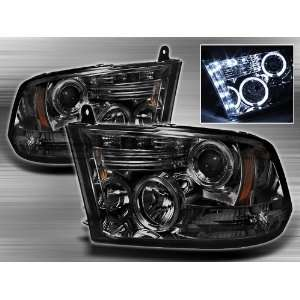 Dodge Ram 1500 2009 2010 Halo LED Projector Headlights
