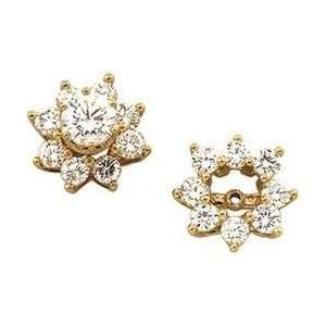 14K Yellow Gold Diamond Earring Jacket