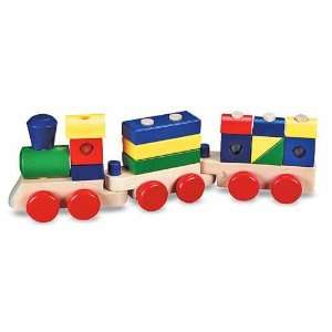 Melissa & Doug Wooden Stacking Train  Toys & Games