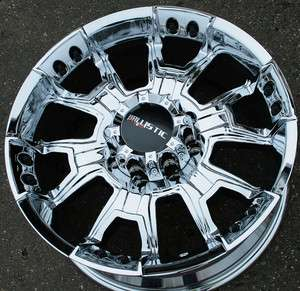 BALLISTIC OFF ROAD HAVOC 904 20 CHROME RIMS WHEELS DODGE RAM 2500 8