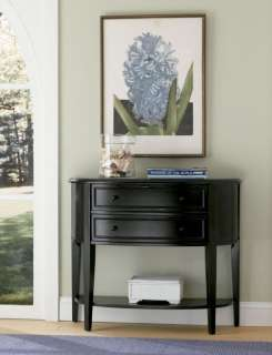 Powell Antique Black Sofa Wood Console Table   502 515