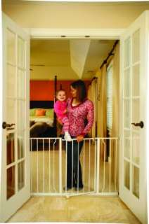 Open Super Wide Walk Thru Baby / Pet Gate   White 618998011856
