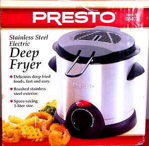 GENTLY USED PRESTO STAINLESS STEEL ELECTRIC DEEP FRYER