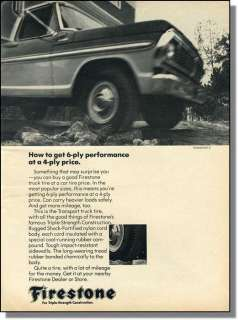 1970 Ford pickup & camper on rough road   Firestone tire ad
