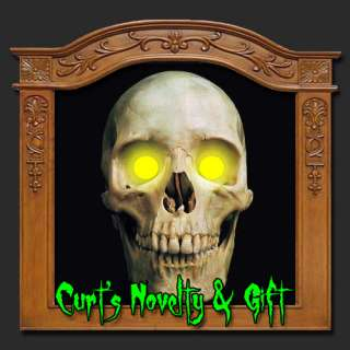 LED AMBER EYES HALLOWEEN PROP Crank Ghost Mask