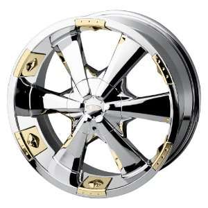 Baccarat Allure 2121 Chrome Wheel with Gold Facet (20x8.5