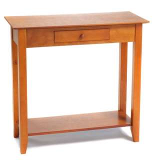 Heritage Cherry Wood Console Hall/Foyer Table & Shelf