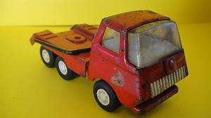VINTAGE JAPANESE TIN TOY TOW TONKA TRUCK JAPAN MADE TOWING / RESCUE